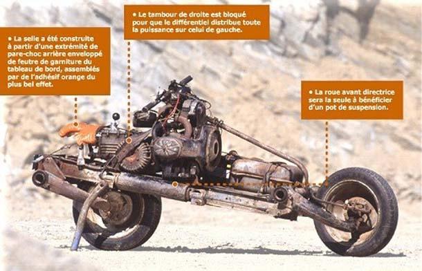 Trasforma l'auto guasta in una moto e si salva dal deserto 4