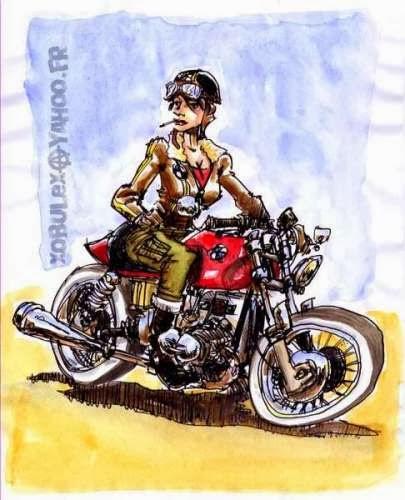 Arte sulle moto, Turboflat