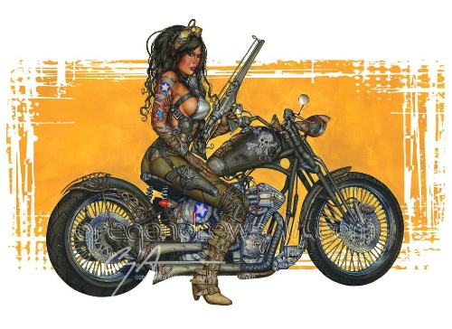 Greg Andrews Art, arte sulle moto, arte moto disegni sulle moto,