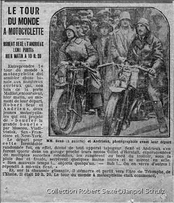 Grandi viaggiatori, robert sexè, storie di viaggio in moto, viaggiatori in moto,pionieri moto, giro del mondo moto,