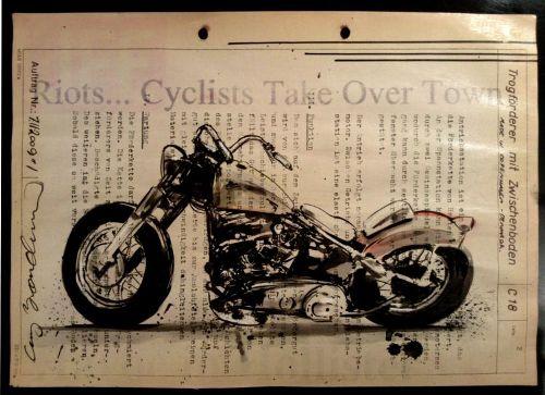 Cay Brøndum, arte moto , arte sulle moto , disegni sulle moto,
