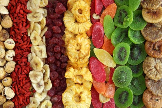 frutta essiccata, viaggio