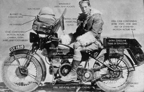 Libri viaggi moto, libri moto, One men Caravan, giro del mondo moto, Robert Fulton,