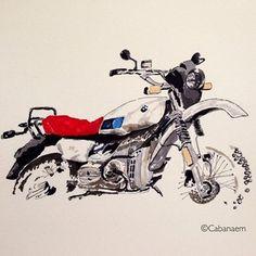cabanaem, disegni moto, arte moto, arte sulle moto ,