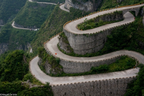 Tianmen Shan Big Gate, strade mitiche , strade cina, strade belle,